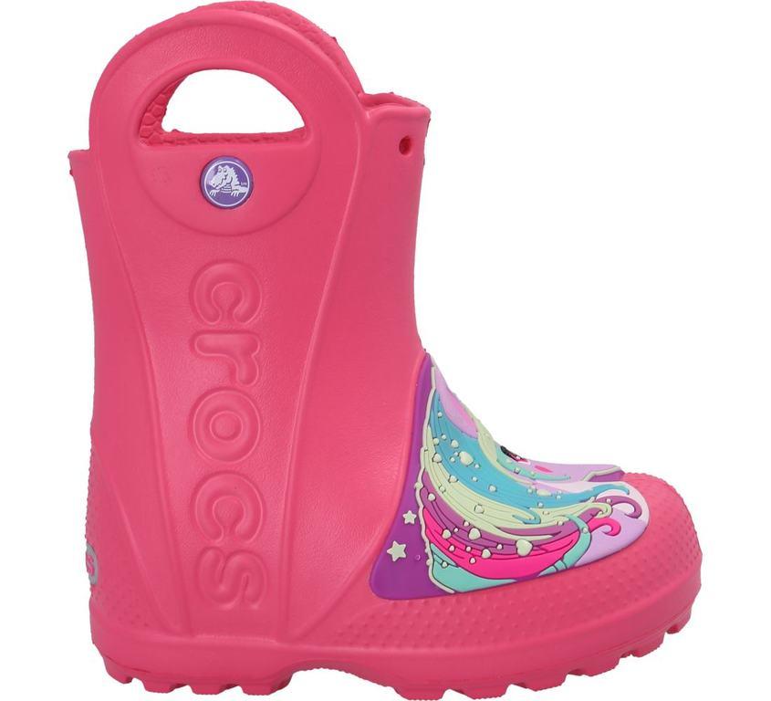 Im Preisvergleich: hinreissender Crocs™ Regenstiefel mit Unicorn-Print