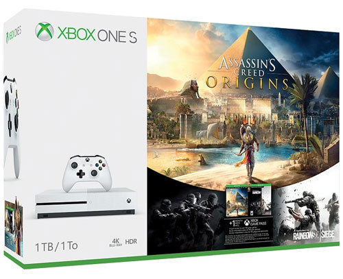 Im Preisvergleich: XBOX-ONE 1TB S  Console Assassins Creed Origins & Rainbow Six Siege