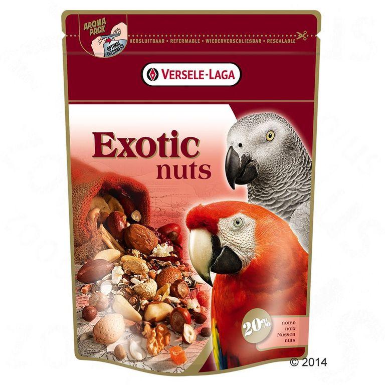 Versele-Laga Exotic Nuts ist eine ganz besondere Leckerei nach der alle Papageien verrückt sein werden. Insbesondere Aras, Kakadus aber auch Graupapageien, Edelpapageien und Amazonen kommen hier ganz auf ihre Kosten. Der exotische Mix mit vielen ganzen Nüssen wie zum Beispiel ...