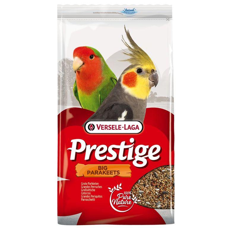 Versele-Laga, der Name steht für qualitativ hochwertiges Vogelfutter. Die klassische Saatenmischung in Prestige Grosssittich Vogelfutter sorgt für eine ausgewogene Ernährung mit allen lebenswichtigen Vitaminen. Dieses Futter ist die beste Voraussetzung für ein kräftiges Gefied...