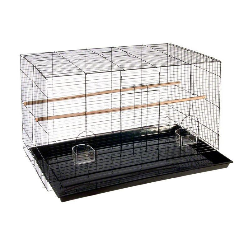 Dieses klassische Vogelheim aus Metall eignet sich durch seinen geringen Gitterabstand besonders für kleinere Vogelarten. Durch die rechteckige Form des Käfigs haben Sie viele Gestaltungsmöglichkeiten, um zusätzliches Zubehör anzubringen, das zur Beschäftigung und Unterhaltung...