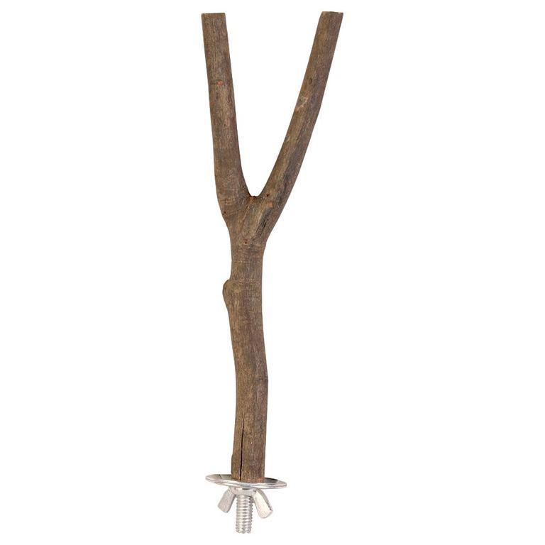 Diese robuste Sitzstange aus Naturholz kann von den Vögeln angepickt werden, da sie aus unbehandeltem Holz gefertigt wurde. Das Johannisbrotbaum-Holz bietet dem Vogel ein ganz natürliches Sitzgefühl. Ideal für Kanarienvögel, Sittiche und Kleinpapageien Masse: L 20 cm, Ø 15 mm ...
